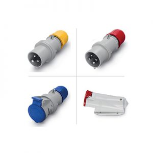 Plugs, inlets, connectors and sockets for industrial applications